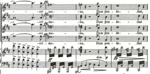 Stabat Mater diminished chords